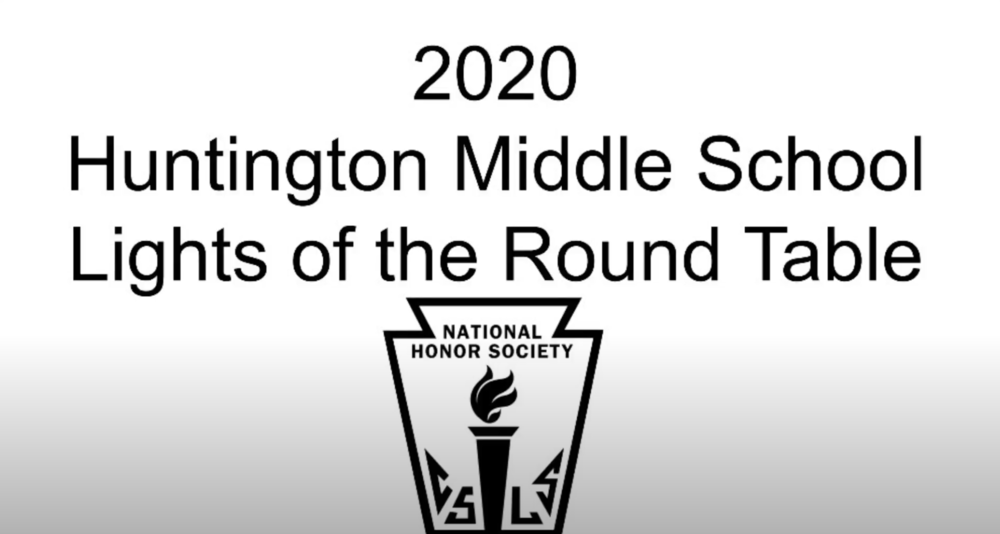 Huntington Middle School Inducts 2020 National Honor Society