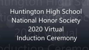 Huntington High School 2020 NHS Induction