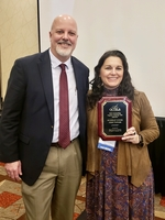 Huntington's Nusbaum Recognized as OCTELA Teacher of the Year
