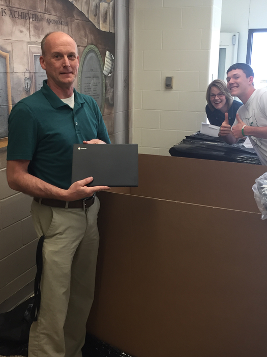 700 Chromebooks were delivered today.