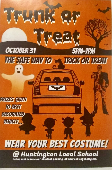 Trunk or Treat 10/31, 5-7pm
