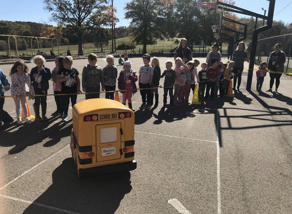 checking out the school bus